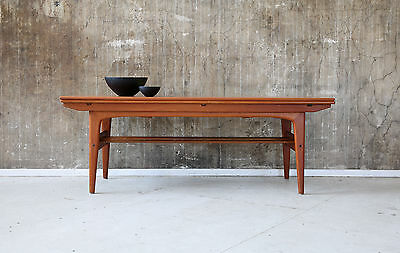 60er TRIOH ELEVATOR TEAK COUCHTISCH & ESSTISCH 60s COFFEE TABLE & DINING TABLE