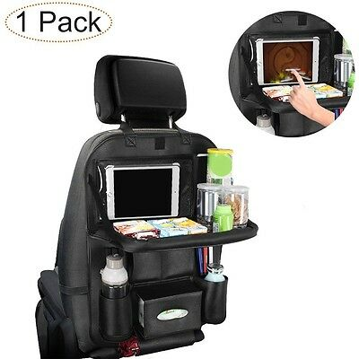 Car Back Seat Organiser, Pushingbest Foldable Car Dining Table Clear Touch Scree
