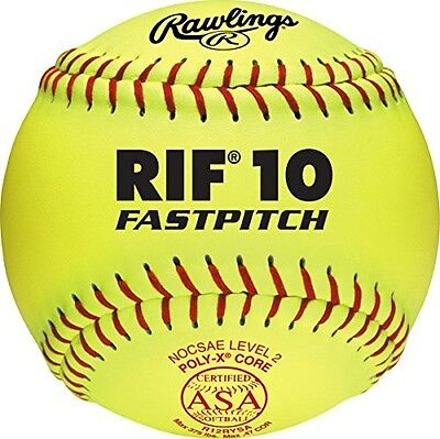 Rawlings Sporting Goods RIF ASA Softball, 30cm. Delivery is Free
