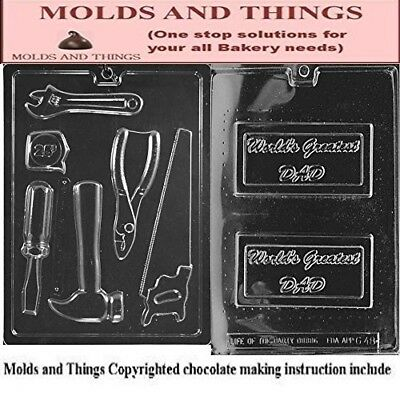 Assorted tools NEW Chocolate Candy Mould, Word's greatest dad chocolate candy