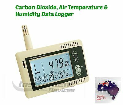 Pro 3in1 Carbon Dioxide CO2 Air Temperature Humidity Data Logger + Calibration