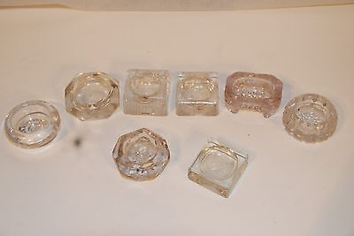 8 Antique Glass Salt Cellars