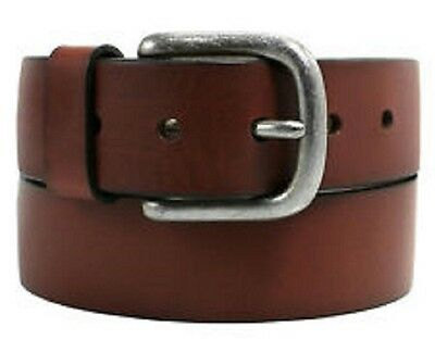 Levi's Men's Leather Belt with Bartack Silver Buckle, Brown