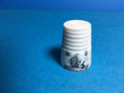 Ivory Scrim Shaw Thimble And Thimble Cover