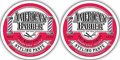 American Barber Styling Paste 100Ml X 2 Free Shipping