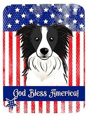 "Caroline's Treasures BB2171LCB ""God Bless American Flag with Border Collie"""