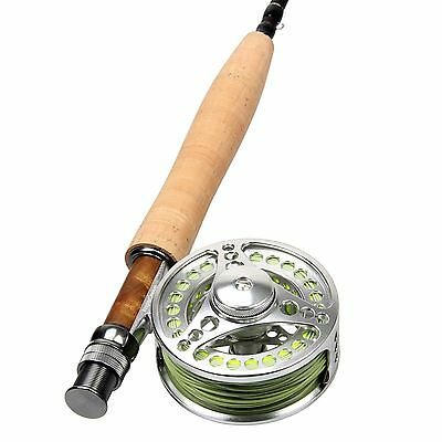 5WT Fly Fishing Combo Carbon Fiber Fly Rod 5/6WT CNC Machined Fly Reel & Line
