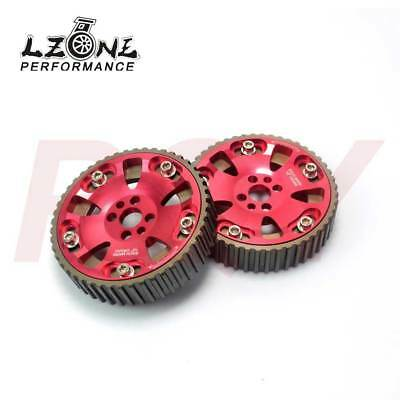Adjustable Cam Gears Kit For Nissan Skyline Rb20 Rb25 Rb26 R32 R33 R34 Red L