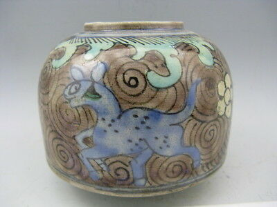 Collectible China Porcelain Hand Painted Dinosaurs Propitious cloud Brush Washer