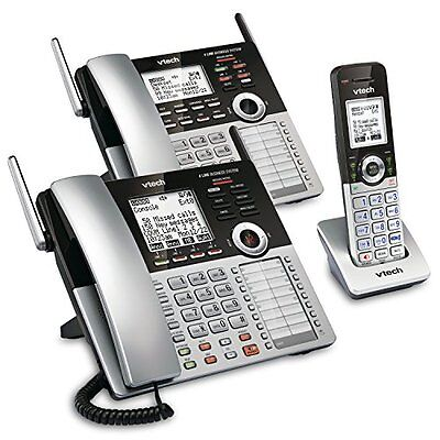 Corded Telephones 4-Line Small Business Phone System Office Starter Bundle With