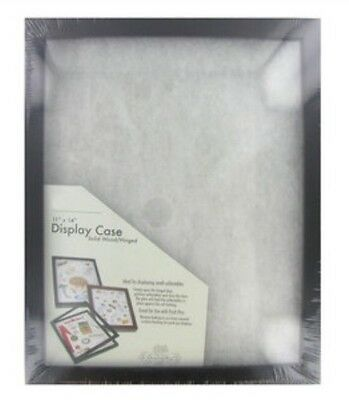 Black 11 X 14 Shallow Front-Load Display Case  Shadow Box Collectible Case New