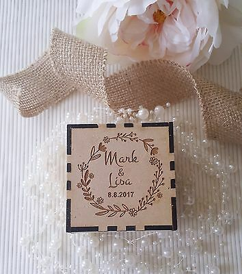 Personalised Rustic Wedding Ring bearer wooden box Engagement gift