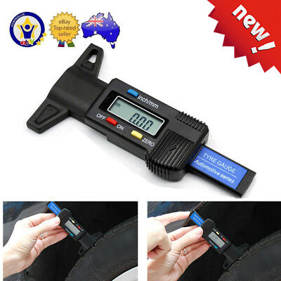 Digital LCD Depth Gauge Car Tyre Tire Tread Brake Pad Shoe Pad Wear 0-25mm GT