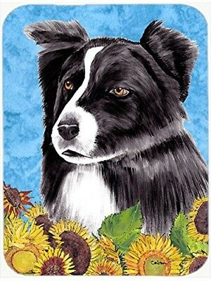 Caroline's Treasures SC9071LCB Border Collie Glass Cutting Board, Large,