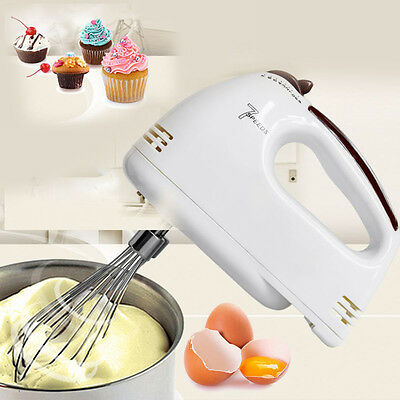 Electric Handheld 7 Speed  Food Whisk Blender Home Kitchen Egg Cake Mixer Beater