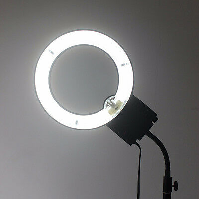 Studio 40W 5400K Photo Circular Ring Lamp Light + Flexible Base Stand 110-220V