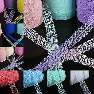 10yds Handicrafts Embroidered Net Lace Trim Ribbon Bow Wedding Sewing Crafts
