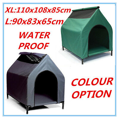Waterproof Pet House Portable Color Size Choice Dog Bed Kennel Elevated Flea D