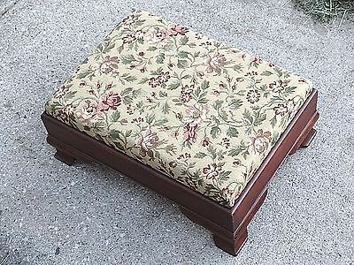 Victorian antique Colonial Empire Provincial ottoman foot rest footstool