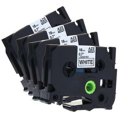 4pk Label Tape TZe-241 TZ241 Compatible for Brother P-Touch Laminated 18mm