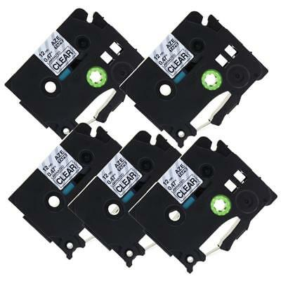 TZe-131 TZ-131 Compatible for Brother P-Touch Label Tape Laminated 12mm 8m 5pk
