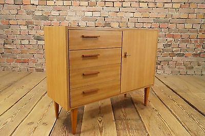 Vintage Mini Sideboard HiFi Turntable Dresser 60s Mid Century Drawer Cabinet