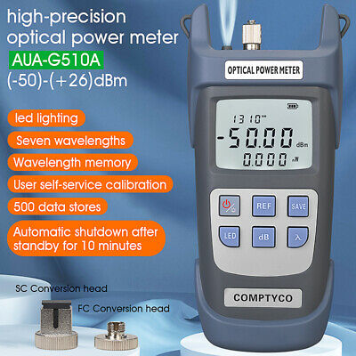 AUA-9C Optic Power Meter Tester Instrument Light Fiber Optic Attenuation Tester
