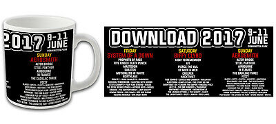 Download Festival 2017 Souvenir Mug Biffy Clyro Aerosmith Bargain Price
