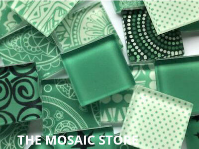 Handmade Dark Green Mosaic Glass Tiles - Art & Craft Supplies