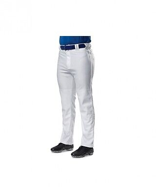 (Small, Grey Scarlet) - A4 Youth Pro Style Piped Baggy Baseball Pants. Best Pric