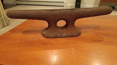 Massive 18 Inch Steel Old Ship Boat Dock Cleat Decor