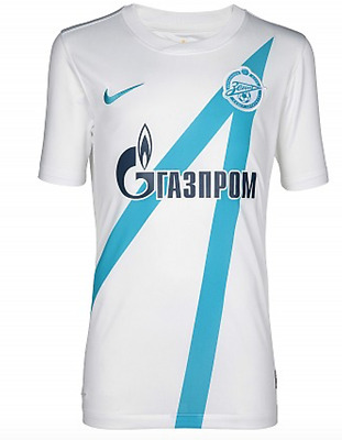 Zenit St Petersburg Nike Official Kids Football Shirt White/Blue