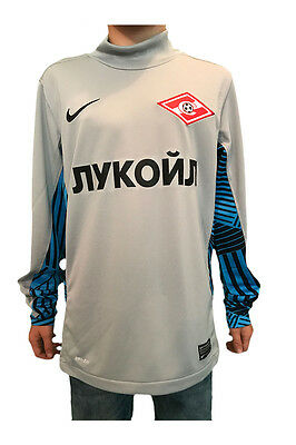 Spartak Moscow Nike Official Kids Football Grey Goal Keeping Shirt