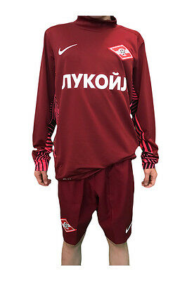 Spartak Moscow Nike Official Kids Football Burgundy Goal Keeping Shirt