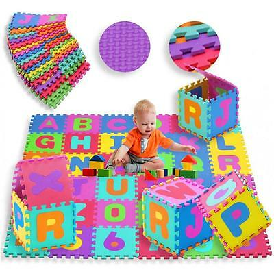 36pcs Alphabet Numbers EVA Floor Mat Baby Room Jigsaw Foam Puzzle Garden Game UK