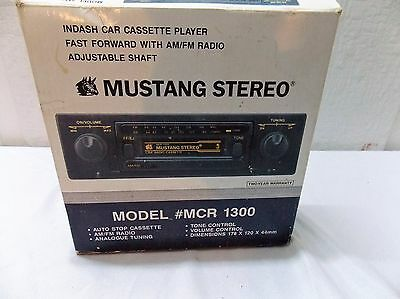 Mustang stereo model MCR 1300 auto stop cassette player