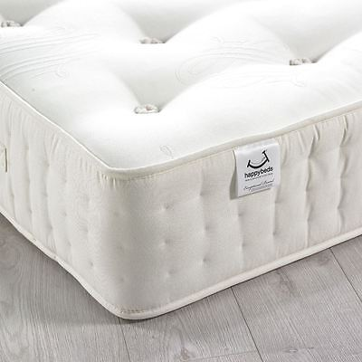 Happy Beds Farley 3000 Pocket Sprung Natural Fillings Mattress Two-Sided Tufted