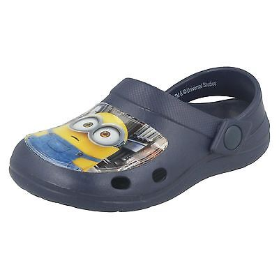 Boys Navy Blue Slip On mules/ Sandals Minions Whymper