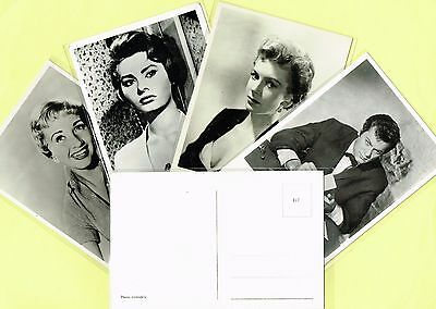 1950s Film Star Postcards issued in Holland (Ref: ANON06) (Movie/Cinema)