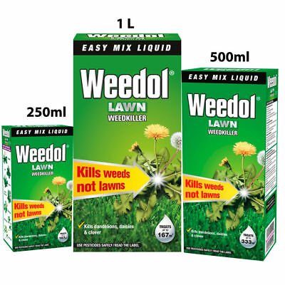 Weedol Lawn Weedkiller Concentrate Kills Weeds not Lawns 250ml 500ml & 1L