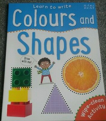 Learn to Write COLOURS and SHAPES Wipe Clean Activity Children's book