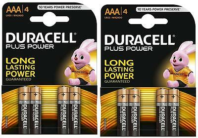 2 x Duracell AAA Alkaline 1.5V Batteries LR03/MN2400 4 Long Lasting Power 2026