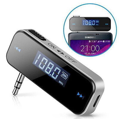 Mini Wireless Car FM Transmitter Radio for MP3 Music Player For iphone ipod UK