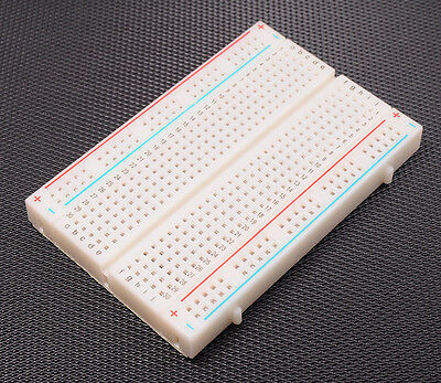 5.5*8.5cm 400 Contact Breadboard Solderless PCB Points Test DIY F/ Arduino White