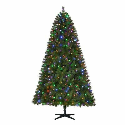 Home Accents Holiday 7.5' Pre-lit LED Wesley Spruce Christmas Tree Indoor Multi