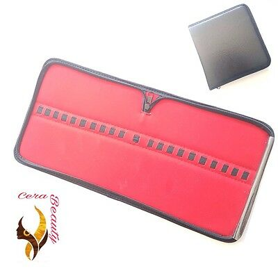 Leather Zip Case/ Pouch for Dentist Surgical Instruments 21 Slots/ leather cover