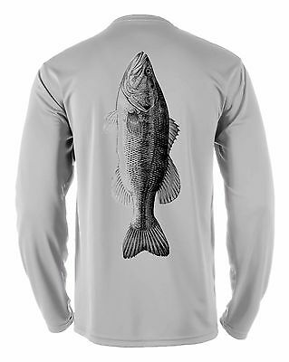 Microfiber Moisture Wicking Long Sleeve Fishing Shirt Bass
