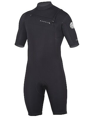 Rip Curl Aggrolite 2/Chest Zip Spring Suit, Black/Black, Large. Shipping Include
