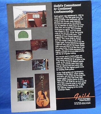 1980'S Usa Guild Guitars Commitment To Craftsman Ship Flyers