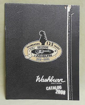 Mint Washburn Guitars 2008 Hi Quality Color 43 Page Catalog Kiss Nuno Others
